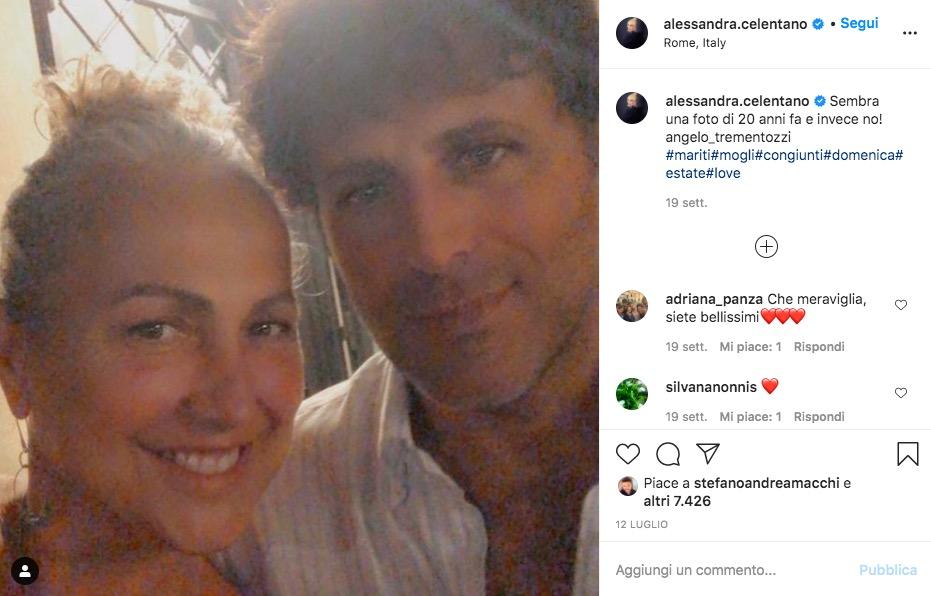 alessandra celentano e il marito angelo su instagram