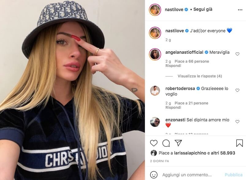 Chiara Nasti Influencer Napoletana Instagram