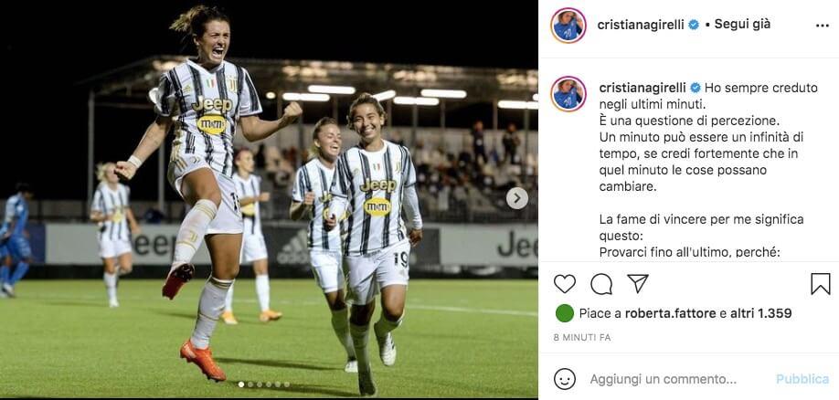 Cristiana Girelli Juventus Instagram