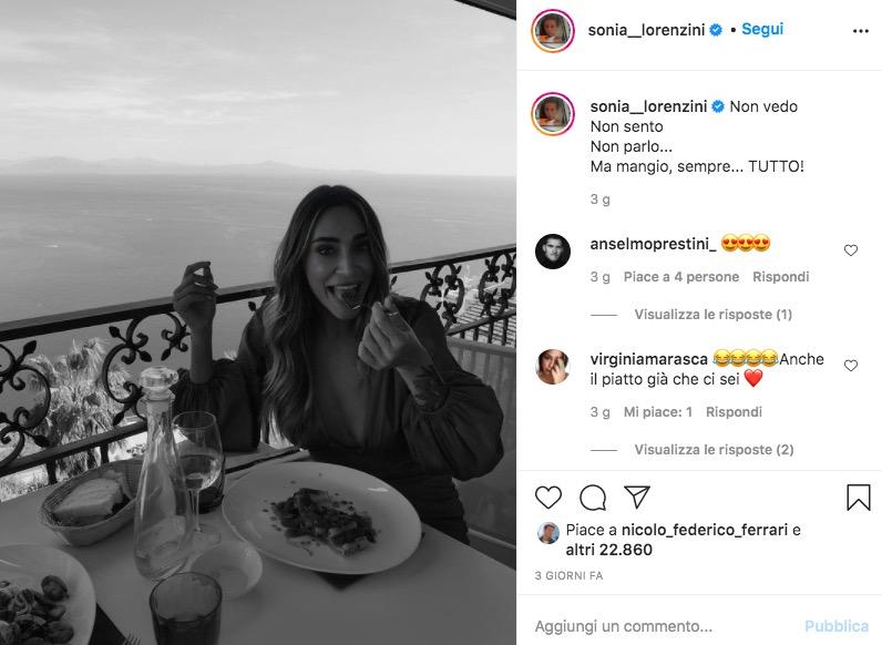 sonia lorenzini instagram