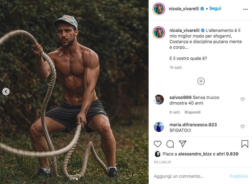 nicola uomini e donne Instagram