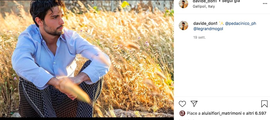 davide uomini e donne instagram