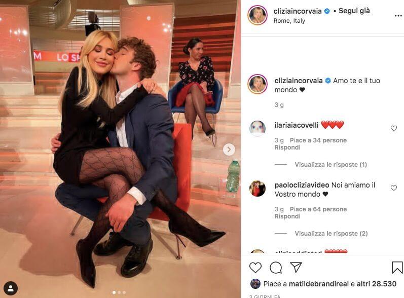 Clizia Incorvaia e Paolo Ciavarro Instagram