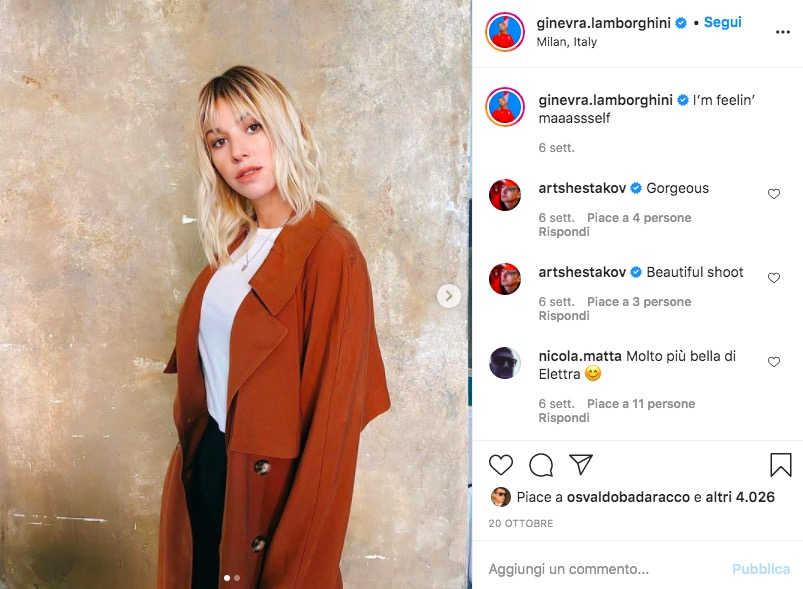Ginevra Lamborghini Instagram
