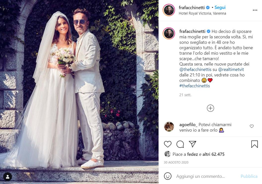 Francesco Facchinetti Matrimonio