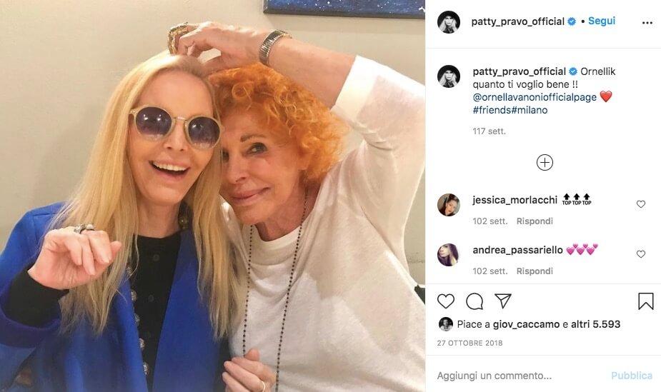 Patty Pravo e Ornella Vanoni a Sanremo