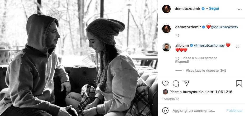 Demet Ozdemir fidanzato cantante turco