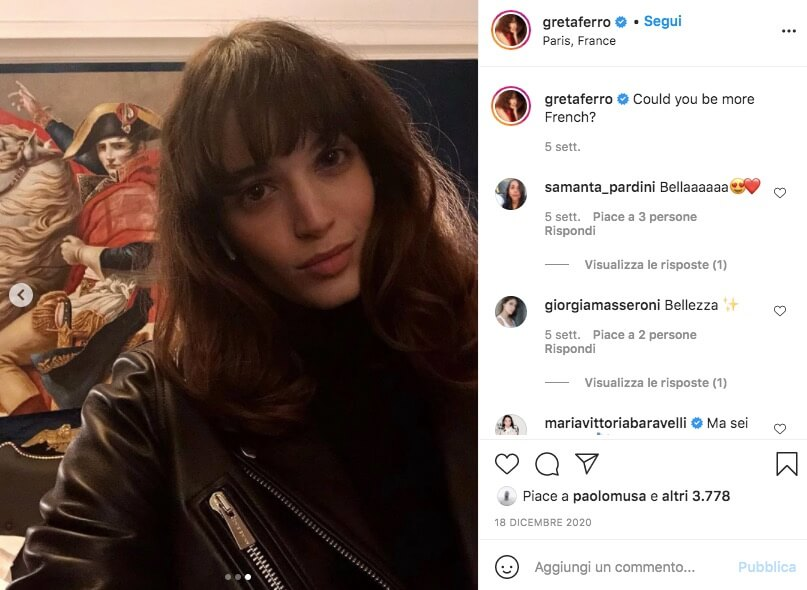 Greta Ferro Made In Italy Instagram