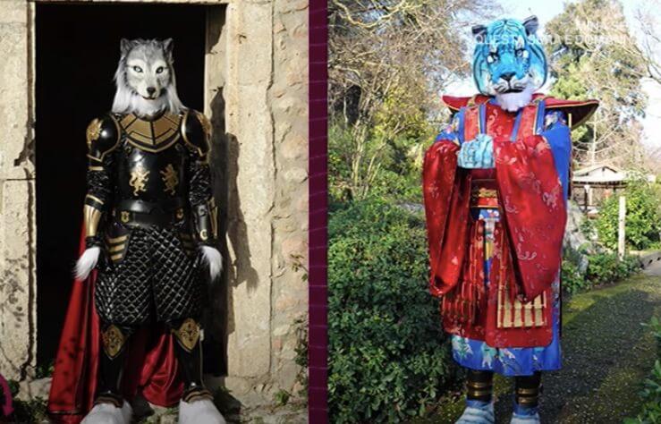 Lupo e Tigre Azzurra il cantante mascherato