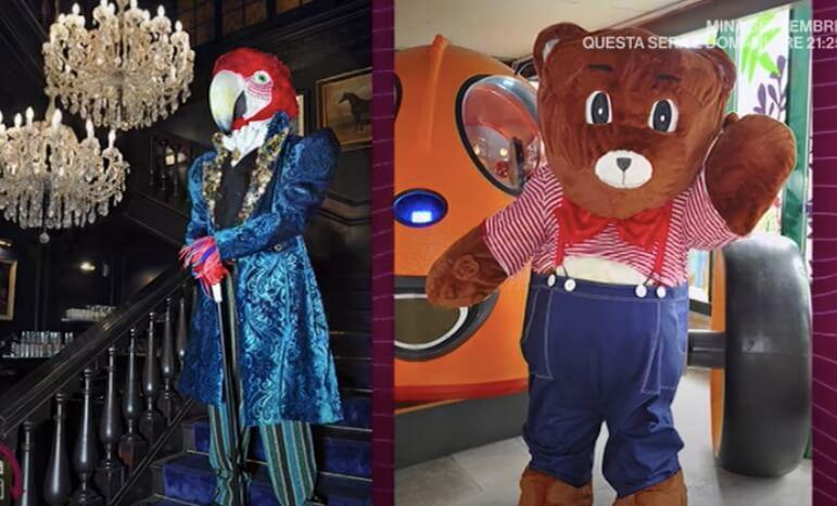 Pappagallo e Orso il cantante mascherato rai chi sono