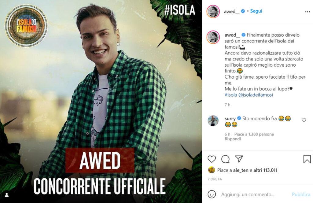 Chi è Awed Simone Paciello? Età, Altezza, Youtuber, Fidanzata e Isola dei Famosi