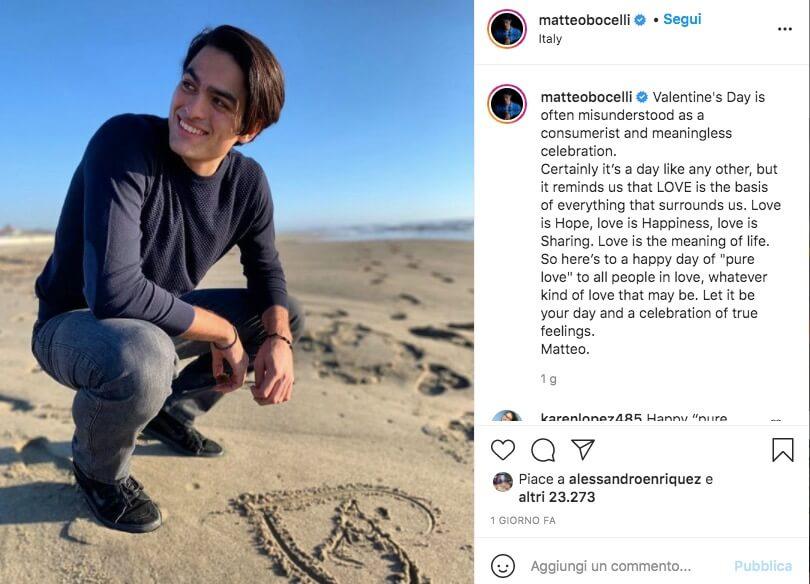 Matteo Bocelli Instagram