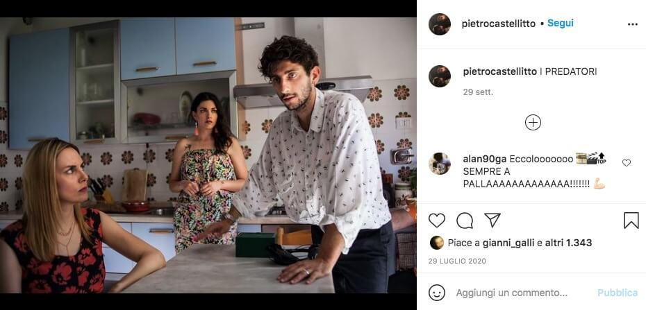 Pietro Castellitto Attore Totti Instagram