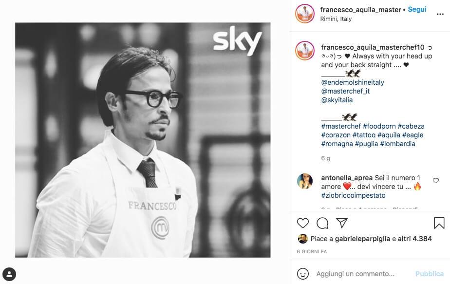 Francesco Aquila Instagram Masterchef 10