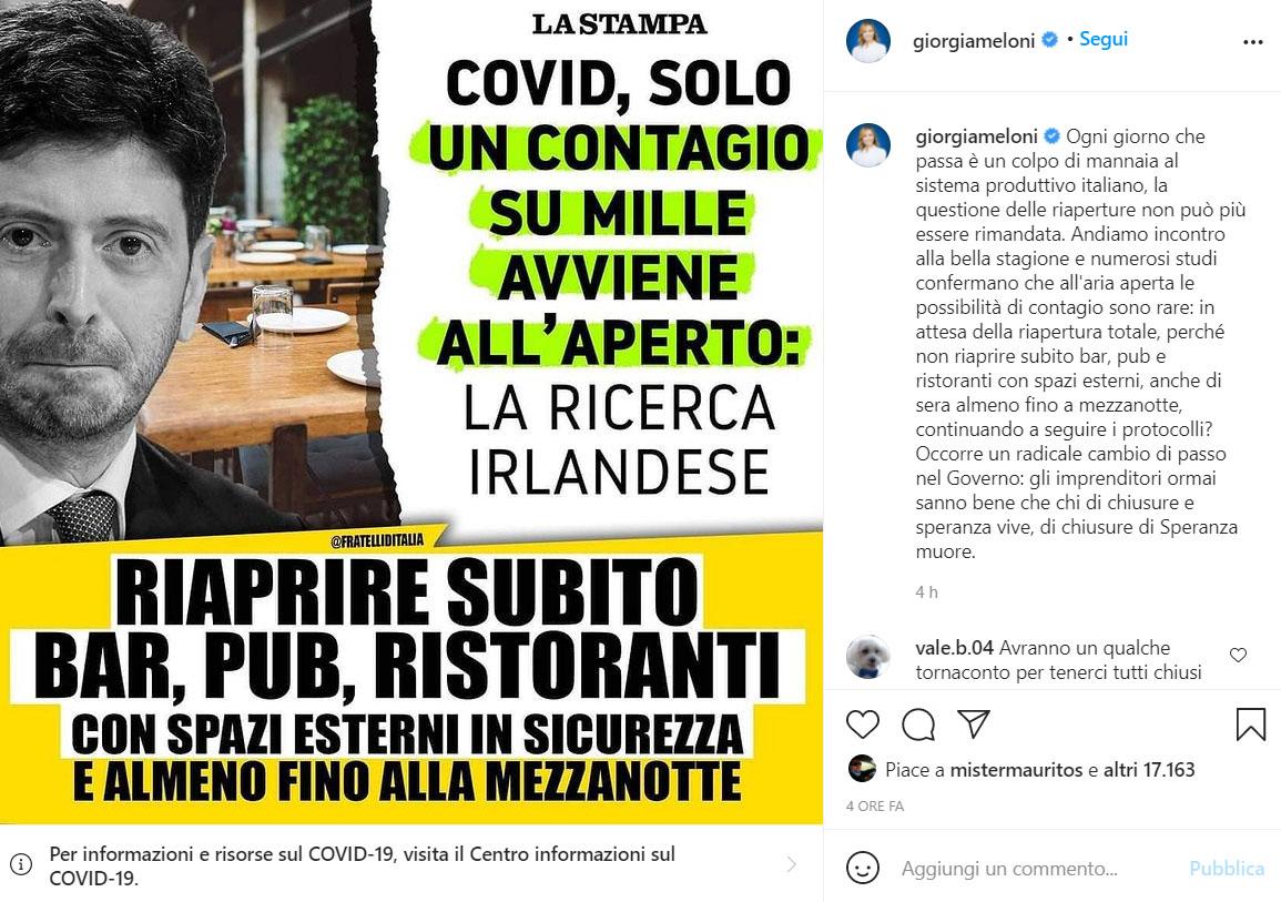 Giorgia Meloni Insta