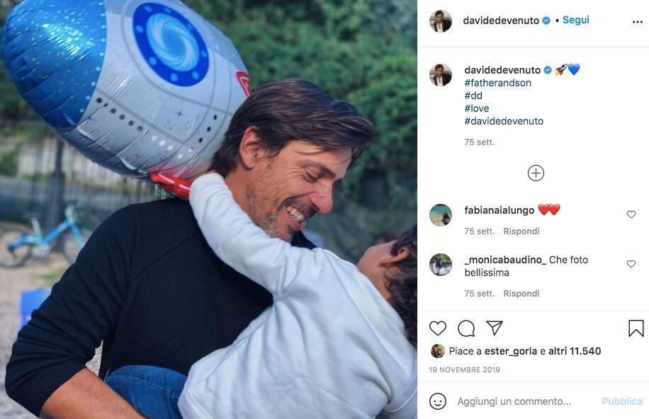 Davide Devenuto Figlio e Instagram