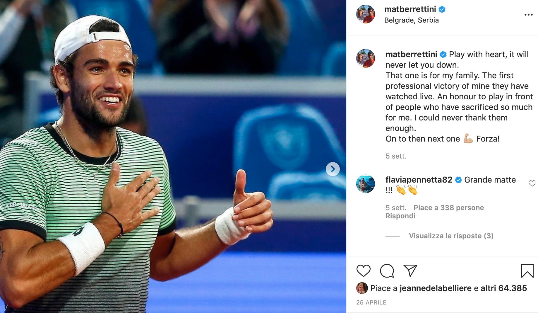 Matteo Berrettini Instagram