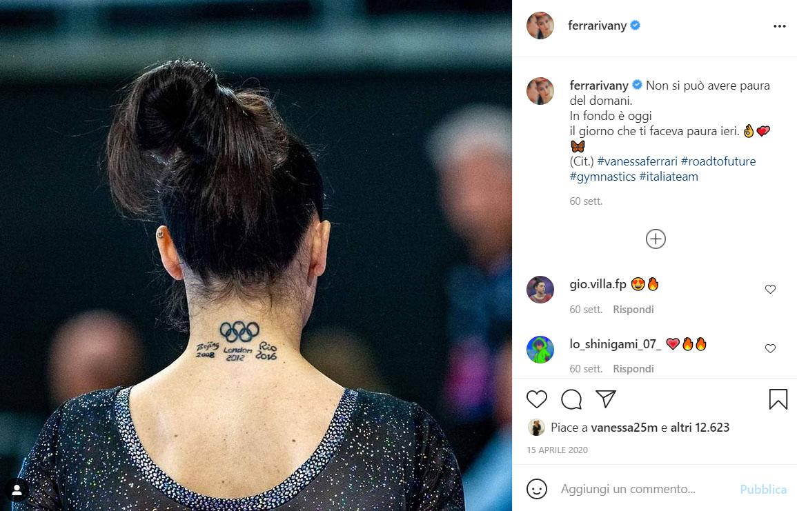 Vanessa Ferrari Tatuaggi