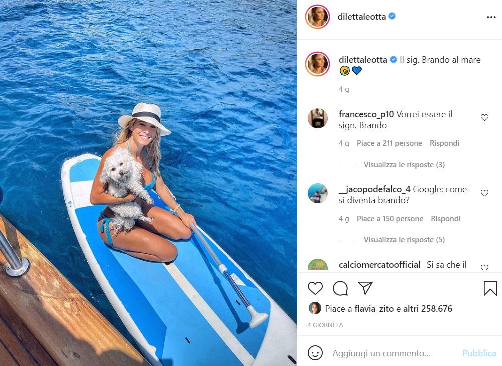Diletta Leotta vacanze