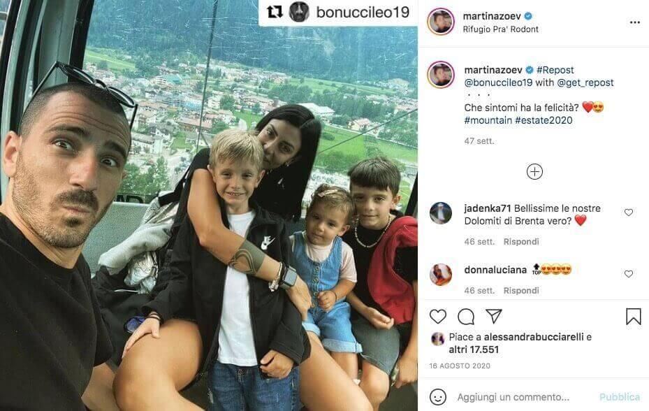 martina moglie leonardo bonucci instagram