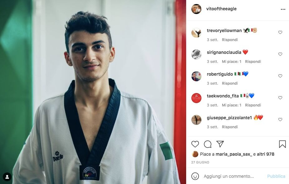vito dell aquila taekwondo instagram