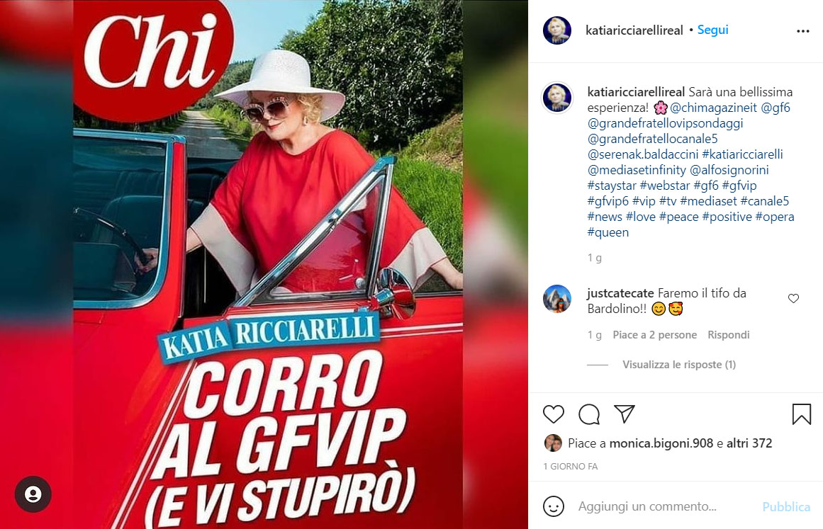 Katia Ricciarelli Insta