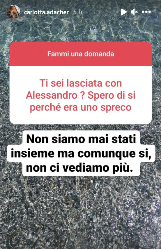 carlotta adacher stories su instagram
