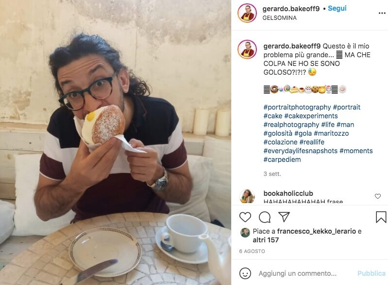 gerardo bake off italia 2021 Instagram