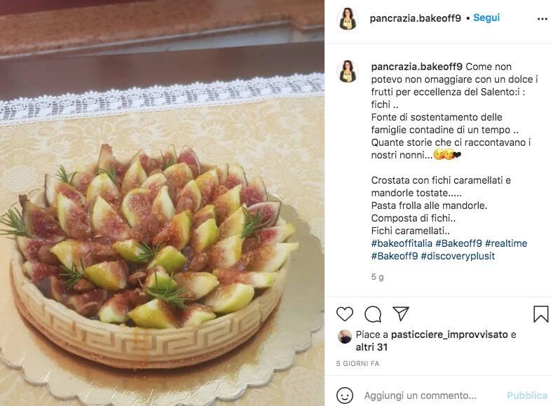 Pancrazia Cavallone Bake Off Instagram foto di dolci