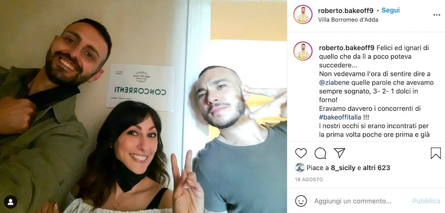 Roberto Portanova Instagram Bake Off Italia 2021