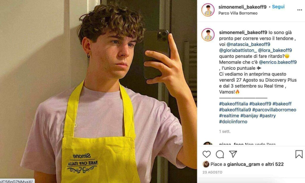 Simone Meli Bake Off Italia Instagram
