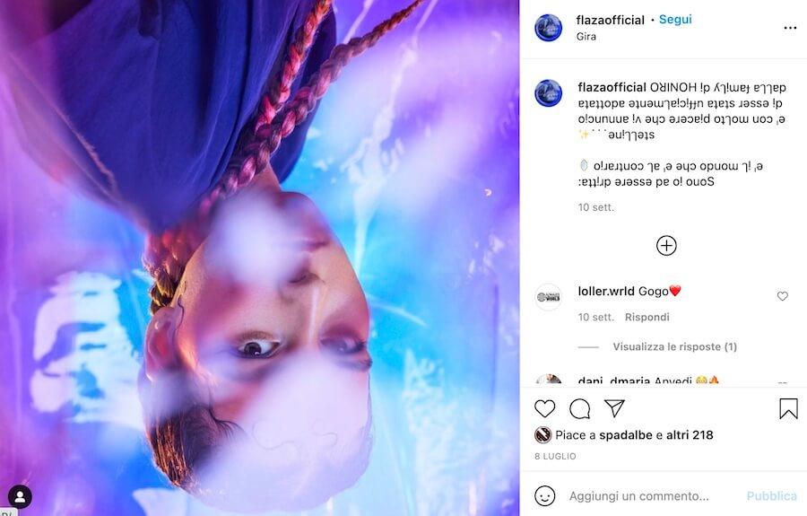 Flaza Cantante Amici 21 Instagram
