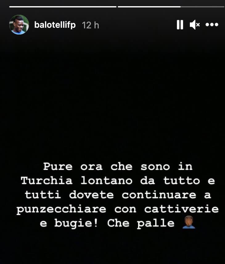 Mario Balottelli Risponde a Raffaella Fico su Instagram
