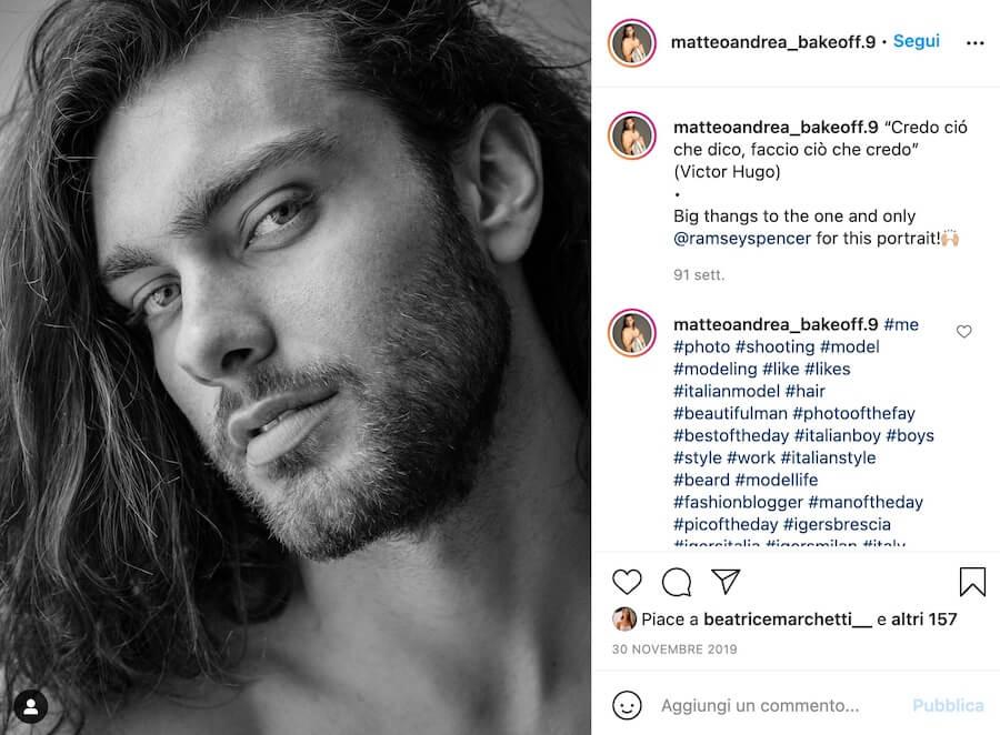 matteo andrea bake off italia 2021 instagram
