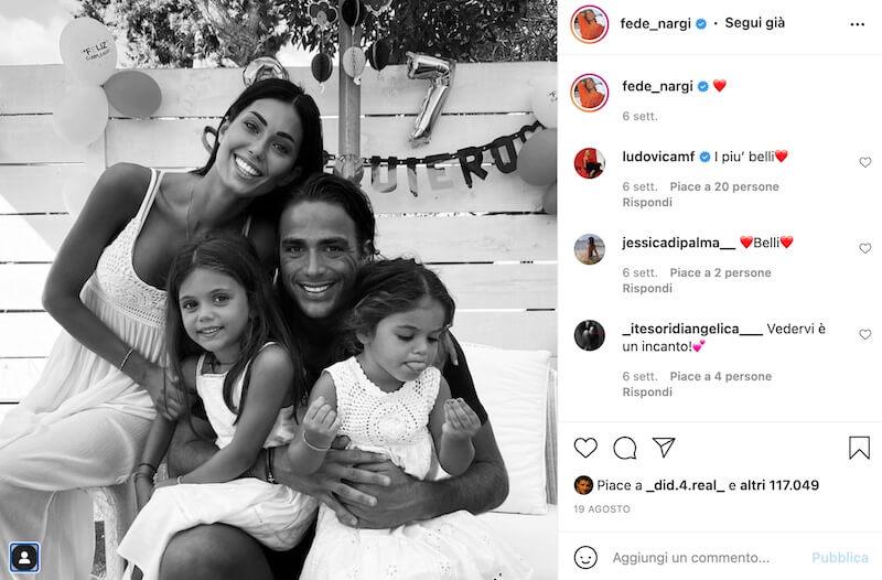 Federica Nargi e Alessandro Matri con le figlie